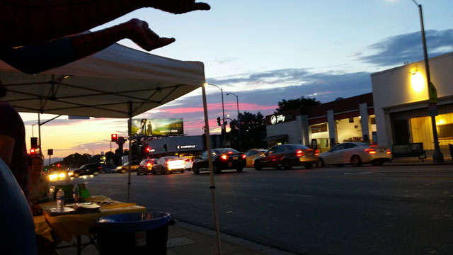 July sunset on Melrose.