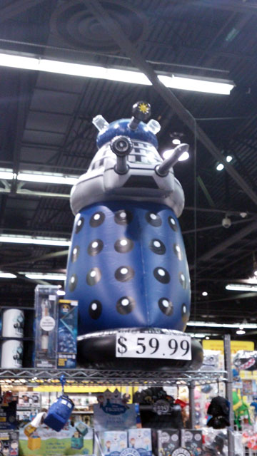 Full size inflatable Dalek.