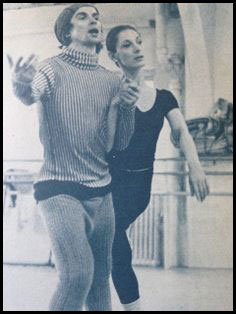 Nureyev and Gregory rehearse Raymunda