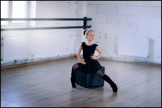 Young dancer seated