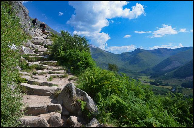 Climbing up Ben Nevis