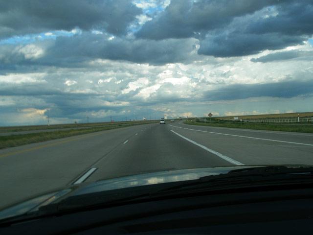 Spectacular sky over the plains